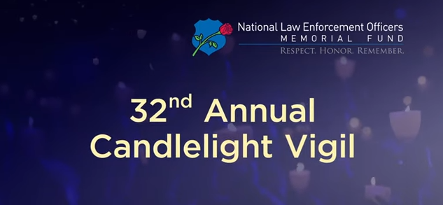 Screen shot of video feature for the 32nd annual candlelight vigil, national police week 2020